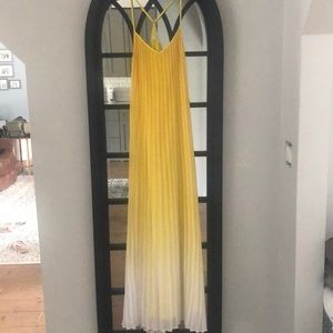 Yellow ombré maxi dress